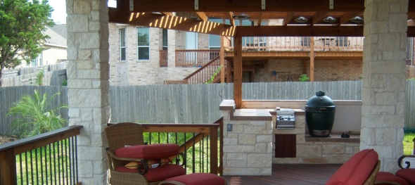 Austin covered patio, deck and pergola