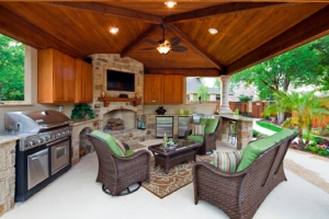 Austin covered patio outdoor room cabana