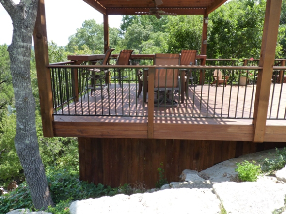 Tigerwood deck and pergola in Austin, TX