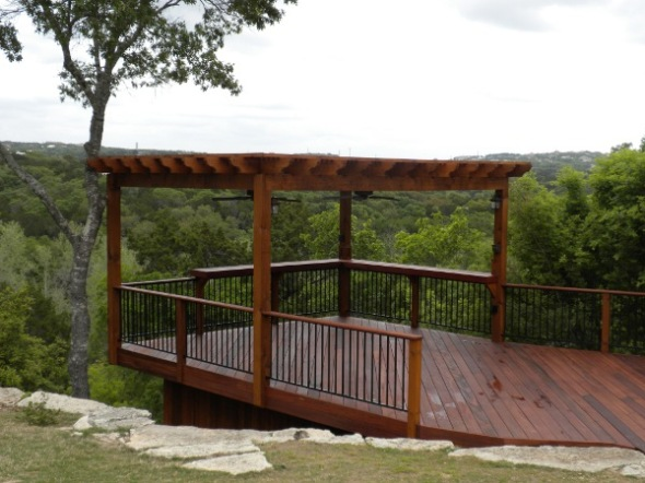 Tigerwood deck and pergola in Austin's Barton Creek
