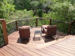Tigerwood lower deck in Austin multi-level deck