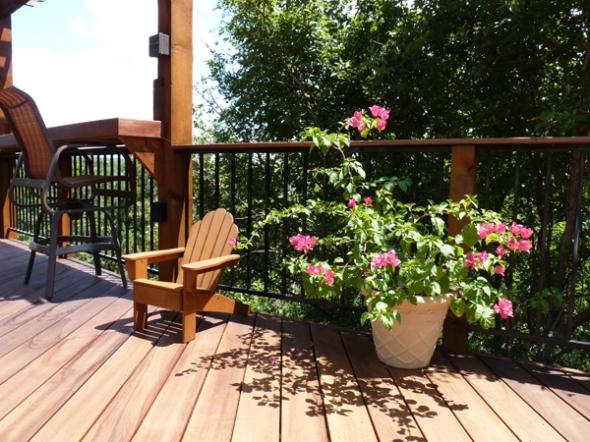 Tigerwood deck in Austin, TX