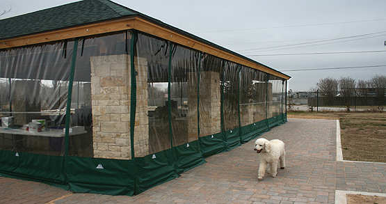 Commercial weather curtains for Austin area Restaurants