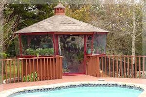 Plant gazebo weather curtain