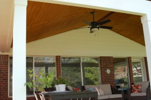 Austn tigerwood hardwood deck with covered porch