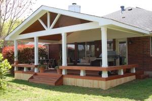 Austin deck - Tigerwood deck with IPE deck cover