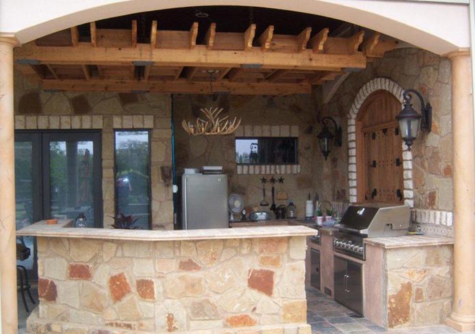 Austin outdoor kitchen Austin Decks Pergolas Covered Patios