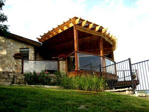 Another pergola built by Archadeck of Austin shows versatility in design as well
