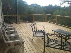 Pressure treated deck by Archadeck of Austin