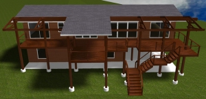 Austin deck concept shown from the top