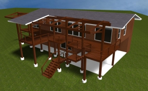 Austin deck rendering from back side