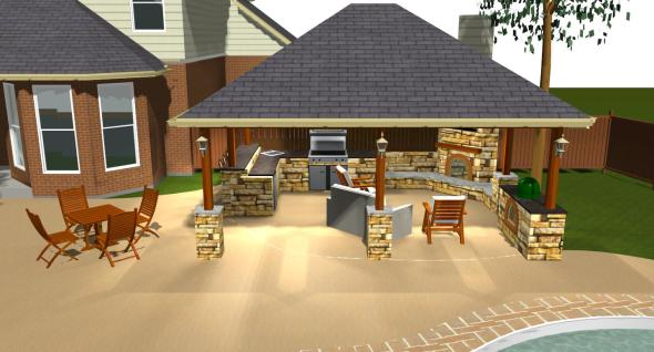 Austin_detached_covered_patio_with_outdoor_kitchen_fireplace_and_grill