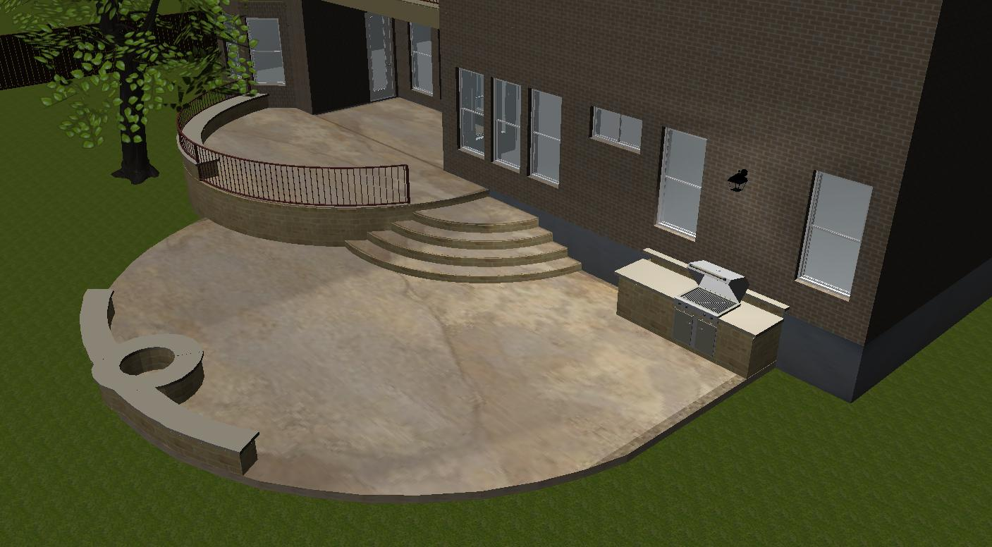 ... Concrete Patio Designs With Fire Pit