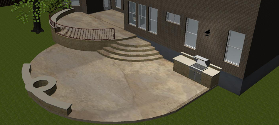 Concrete Patio Designs Layouts