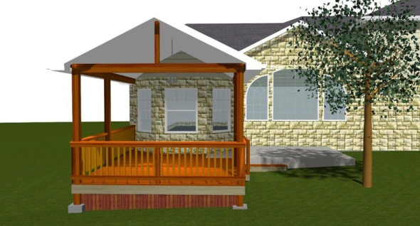 Design rendering by Archadeck of Austin at Steiner Ranch