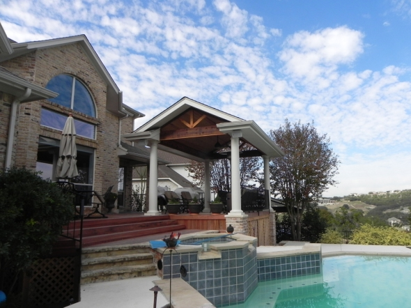 Riverplace combination outdoor structure by Archadeck of Austin