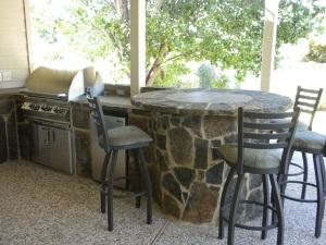 Austin flagstone bar outdoor kitchen