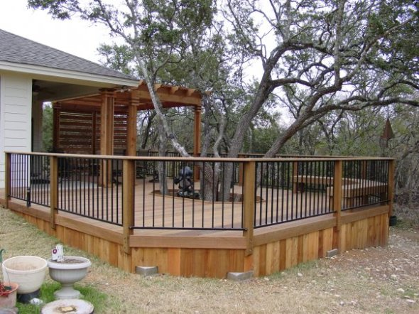 Tree integrated into Austin TX deck