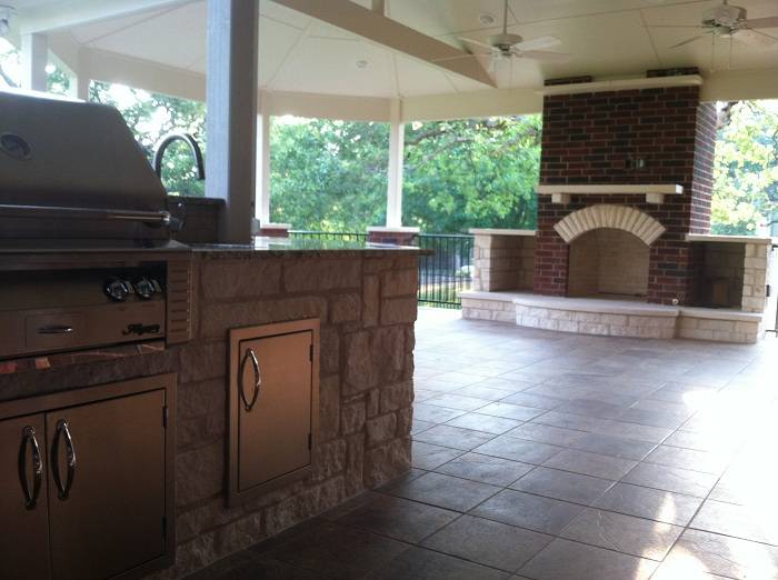 Archadeck of Austin limestone patio covers
