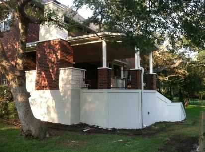 Austin TX octagonal covered patio designs