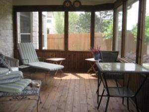 Cozy screened porch in the Austin, TX area