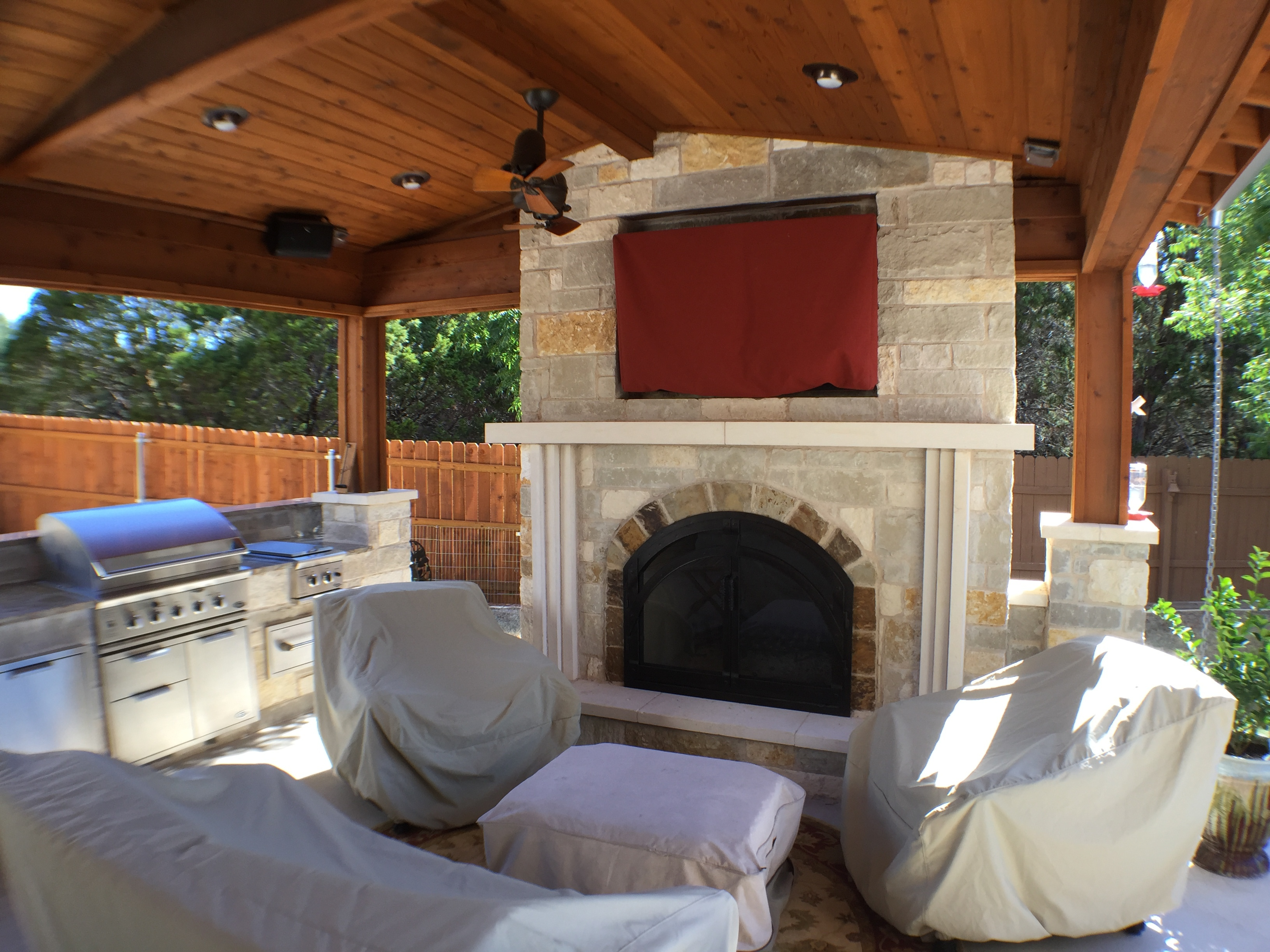 Austin Outdoor Fireplace Austin Decks Pergolas Covered
