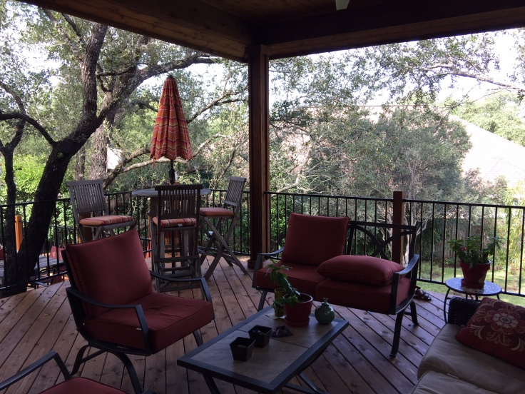 Cedar deck and porch cover in Steiner Ranch, Austin, TX
