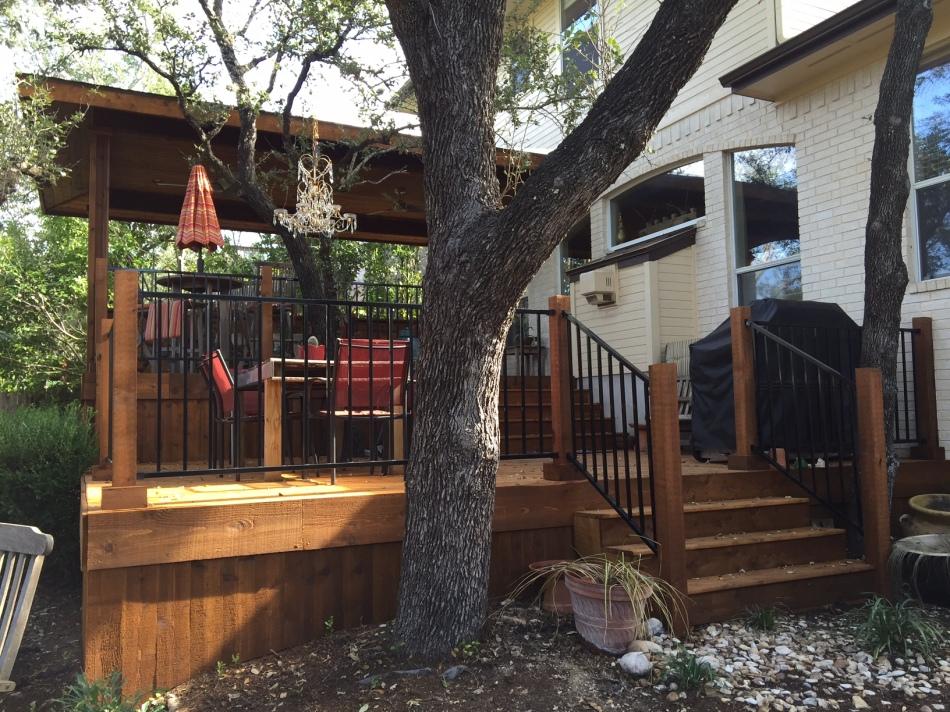 Steiner Ranch All Cedar deck and porch in Austin, TX