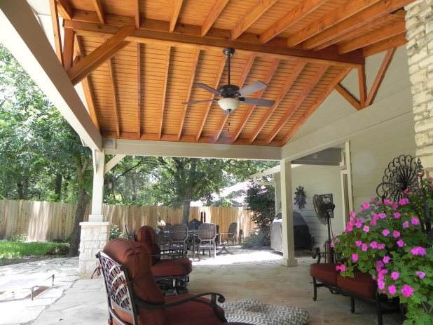 Interior of South Austin covered patio