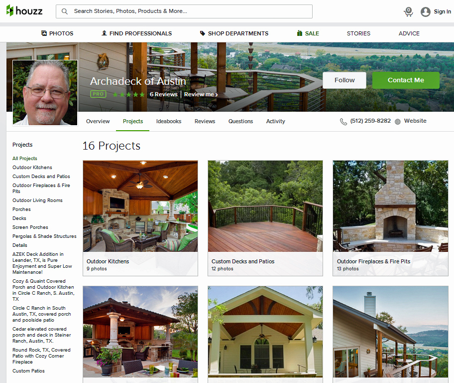 Archadeck of Austin's Houzz profile