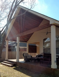 Brushy Creeek TX covered patio