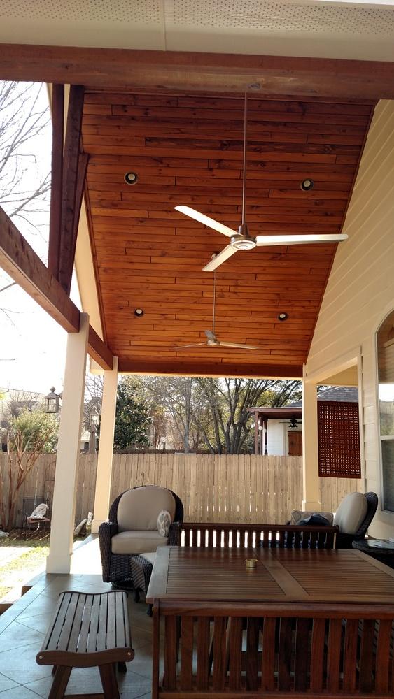 Interior of Brushy Creek TX patio cover