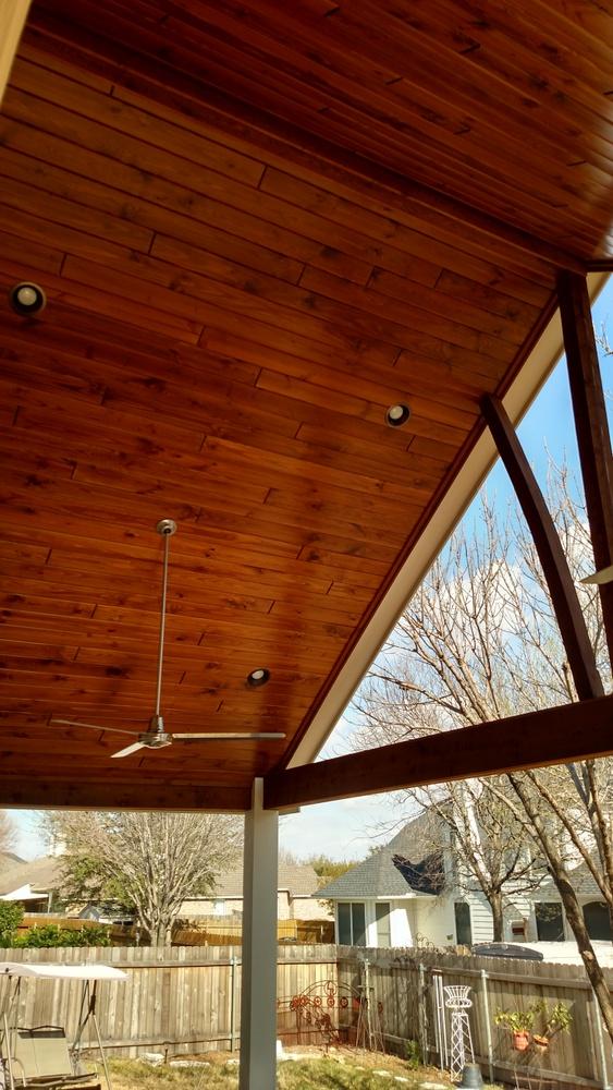 Brushy Creek TX patio cover builder