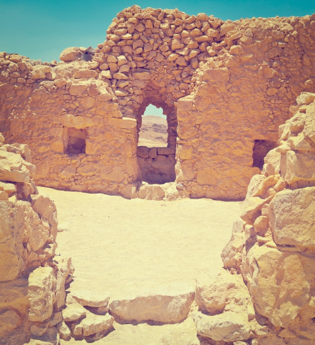 Ruins of the Fortress Masada in Israel