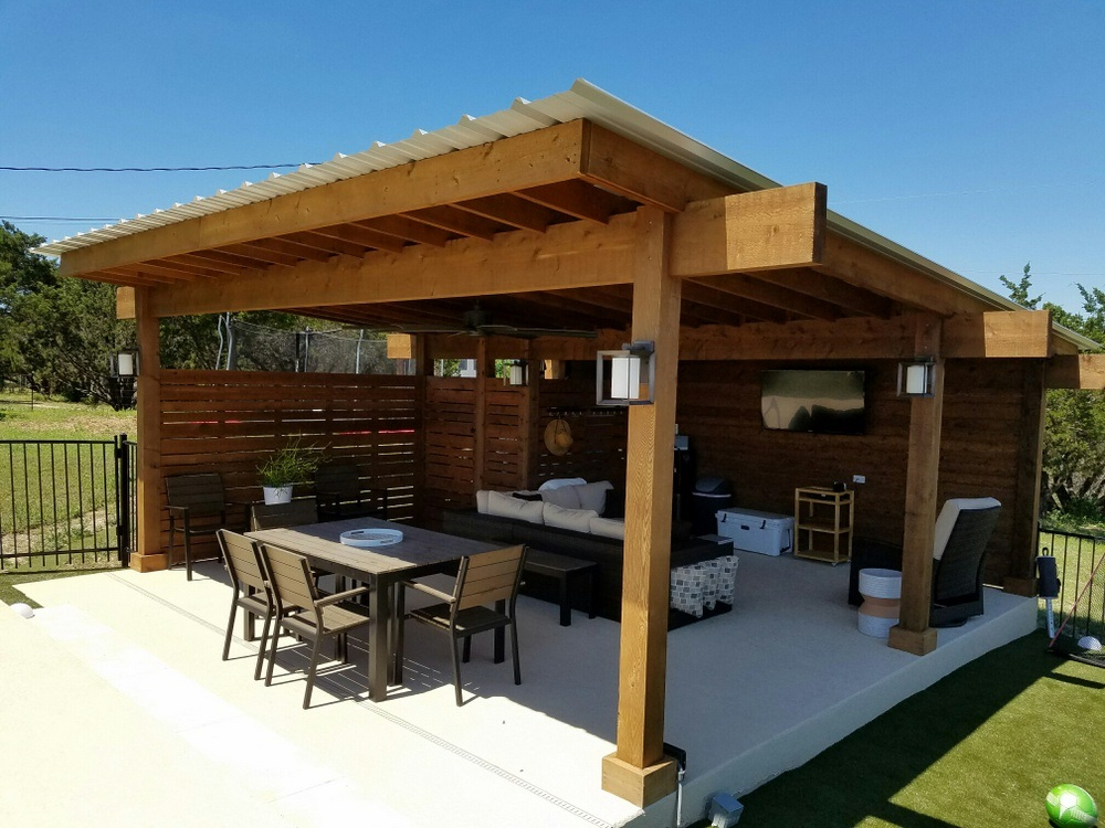 Bee cave tx contemporary pergola austin decks pergolas for Outdoor porches and patios