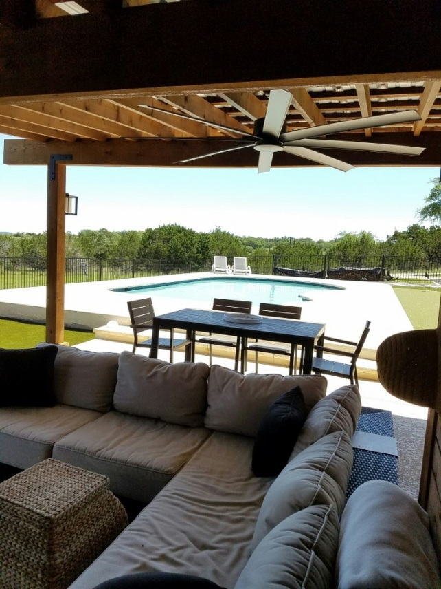 Poolside pergola addition in Bee Cave TX