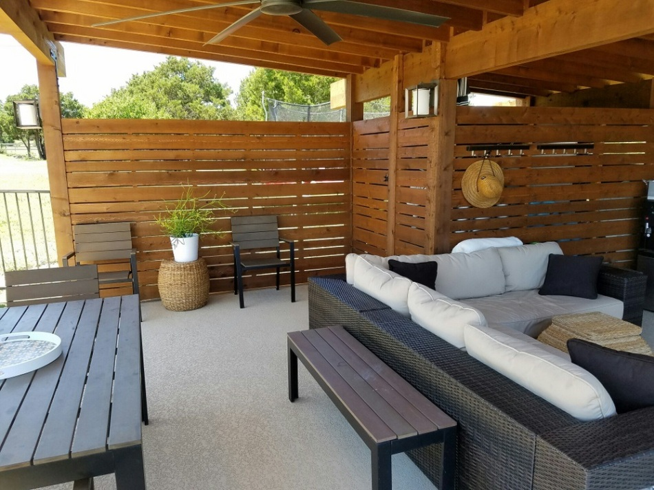 Contemporary Outdoor Living Space Designer and Builder Austin TX