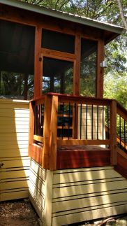 South Austin screened porch addition on 1907 home