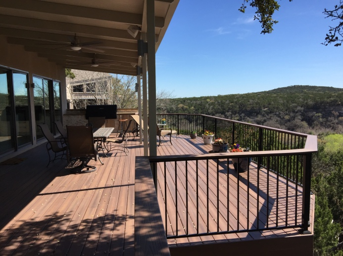 Southwest Austin deck extension, redeck and patio cover