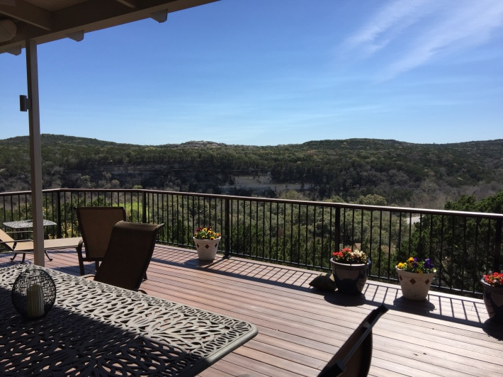 View from Lost Creek Deck and Patio Cover in SW Austin