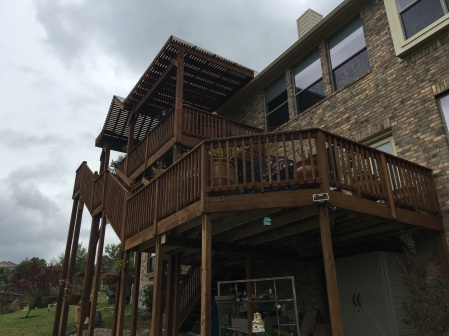 SW Austin multi-level deck and pergola