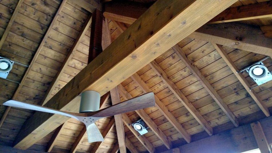 Interior details of South Austin screened porch on vintage home