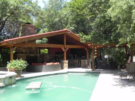 Westlake Hills TX Covered Poolside Porches