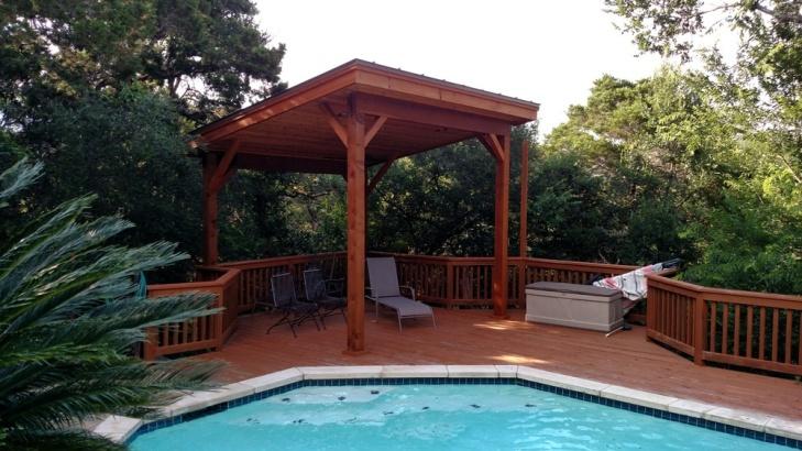 Austin Poolside Pergola