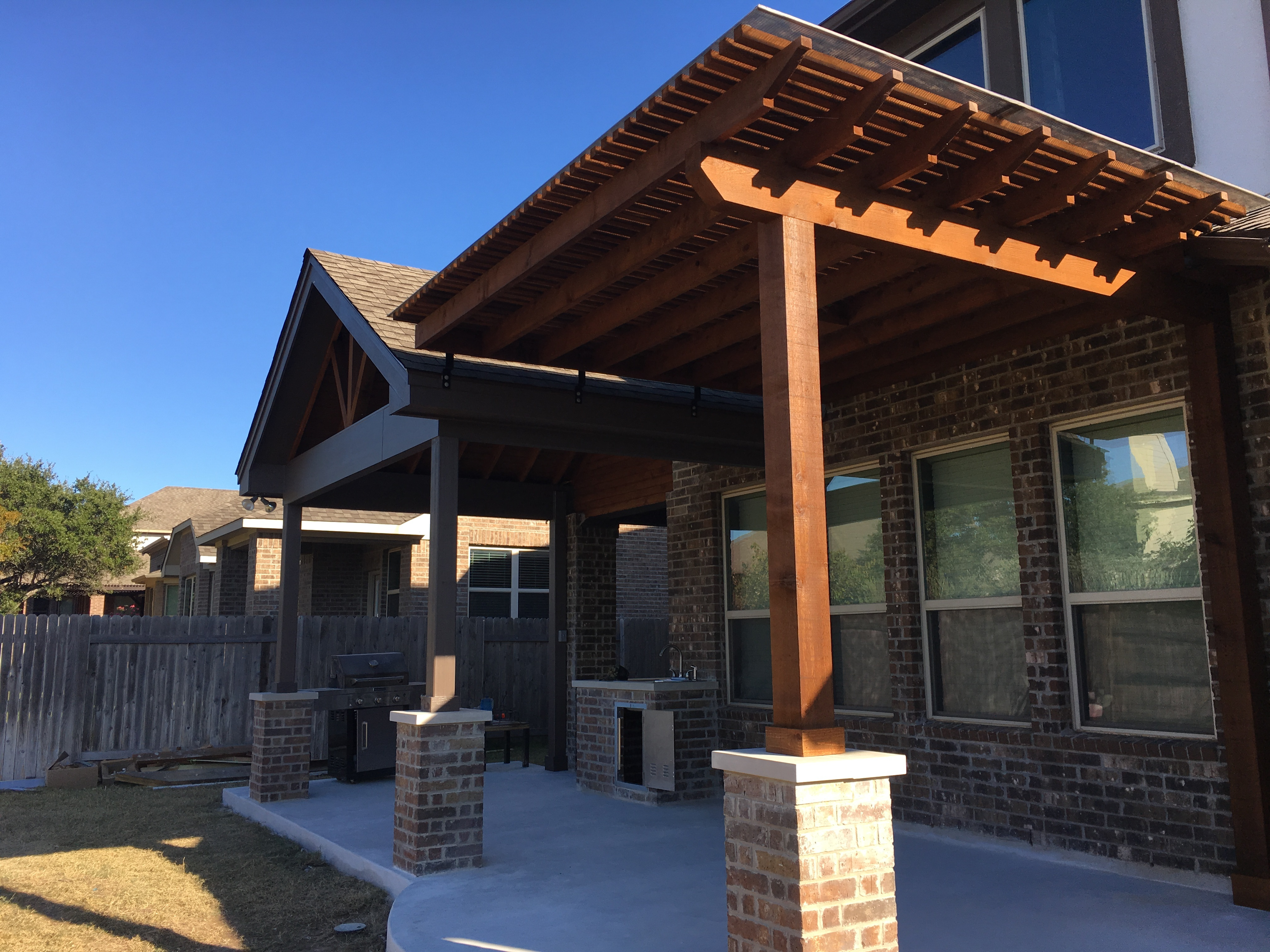Our Recent Covered Patio And Pergola Addition In Leander, TX, Proves That A  Space Doesnu0027t Have To Be Large To Have A BIG Impact