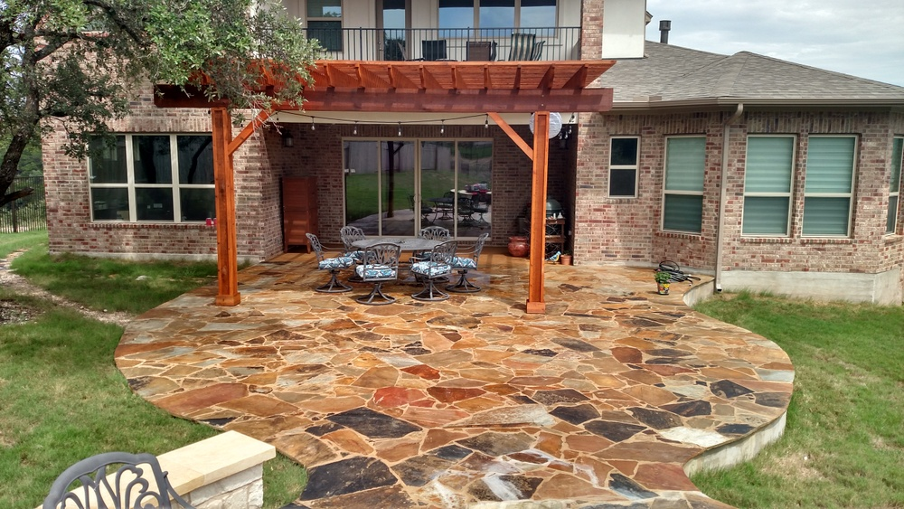 Austin decks pergolas covered patios porches more Flagstone patios colleyville tx