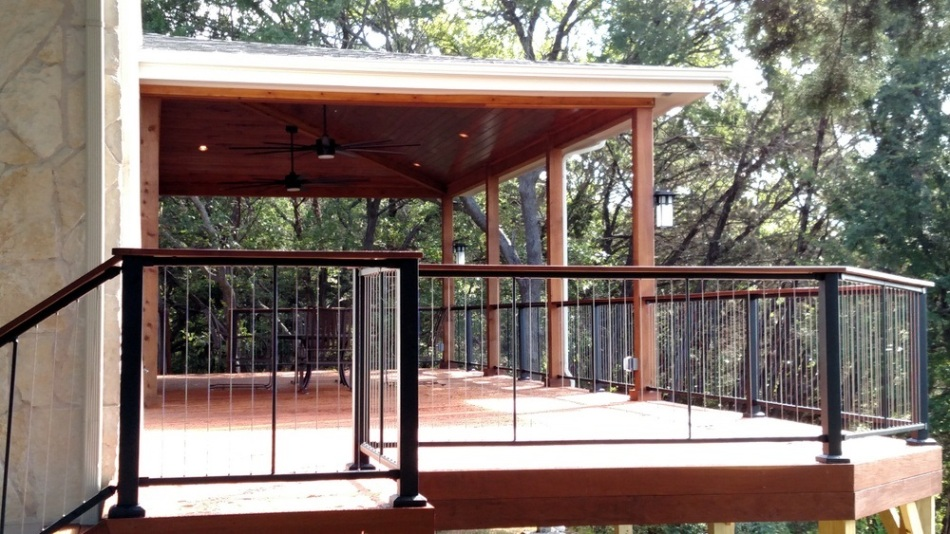 Ipe deck and porch combination at Rob Roy on the Lake in West Austin