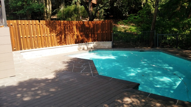 Austin Poolside Hardscape at Cat Mountain North