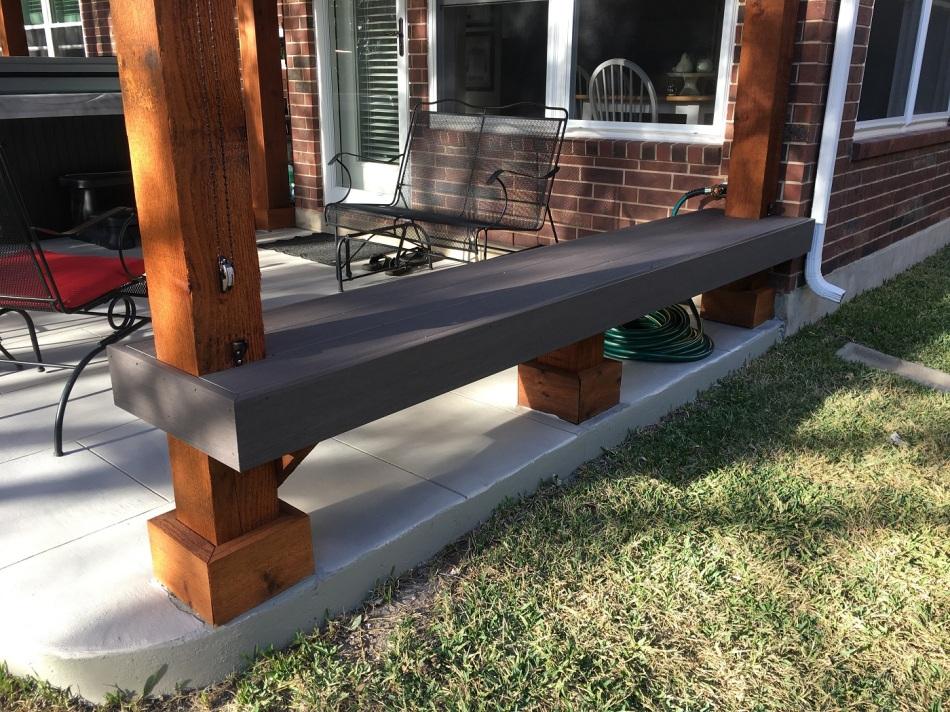 Archadeck of Austin Custom Built AZEK Bench in Steiner Ranch