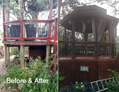 before and after Gazebo updates